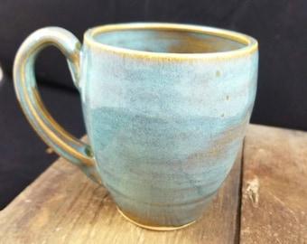 Turquoise Ceramic Mug, Teal Mug, Coffee Mug, Pottery Mug, Ceramic Mug, Ceramic Coffee Cup, Pottery Coffee Cup, Tea Cup, Ceramic Tea Cup