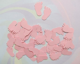 50 Pink Cardstock Feet Cut-outs (25 pairs), Baby Shower, Invitations, Confetti, Scrapbooking,Cardmaking,Decorations,Paper Crafts,First Steps