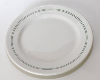 """Wallace China 9"""" Plate, Vintage Restaurant Ware, White, Great Condition"""