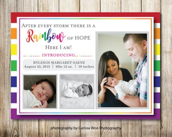 Birth Announcement - Rainbow Baby