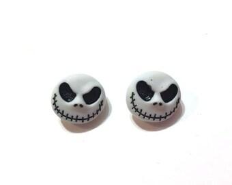 Halloween Disney Buttons Jack Skellington Skull Tim Burton's Nightmare Before Christmas Dress It Up Set of 2 Shank - H 112 A