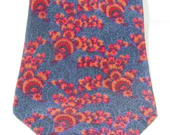 Lanvin 100% Silk Floral Pattern Necktie