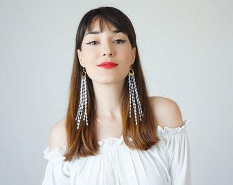 Tassel Earrings Boho-Chic Fashion Boho Earrings Gift For Her Bohemian Jewelry Tassel Earrings Fringe Earrings / MUCCIA