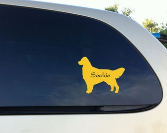 Golden Retriever Dog Car Vinyl Decal Personalized Wall Sticker