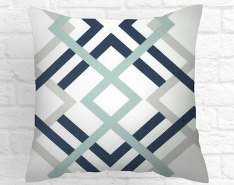 Navy Blue Decorative Pillows 18 x 18 pillow cover // 18 x 18 pillow // pillow covers 18 x 18 Covers Only