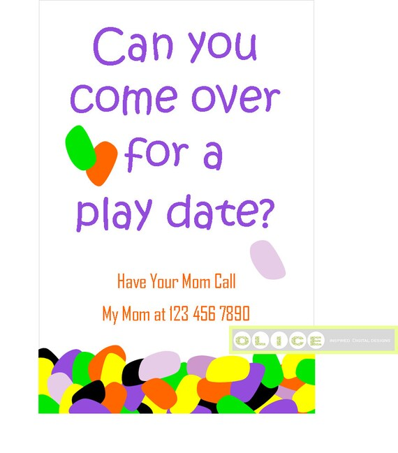 Play date card play date invitation cards School Playdate