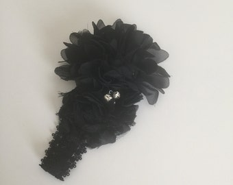 Baby Girl Headband/Black