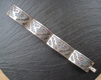 Eagle 2 Mexican Sterling Panel Bracelet