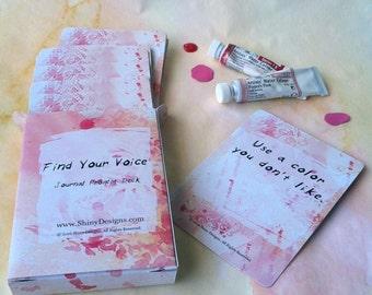 Art Prompt Deck,  Inspiration Deck, Journaling Cards, Art Journals, Junk Journals, Smash Books, Journal Prompt Card Deck, Writing Prompts