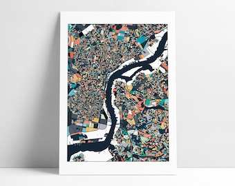 Philadelphia Map, Philadelphia Print, Philly City Map, Philly Map Poster, Philadelphia Map Print, Philadelphia, Pennsylvania, Wall Art Decor