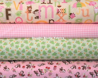 Clearance BUNDLE Girly Girl fabric collection 4 fabrics 1/2 yard of each