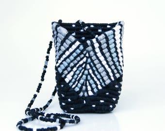 Stripes and Polkadots Miniature Basket