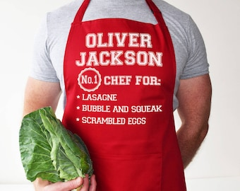 Personalised Apron - Chef Best Dishes Apron - baking gift - kitchen gift - cooking gift - gift for her - gift for him - Gift for new home