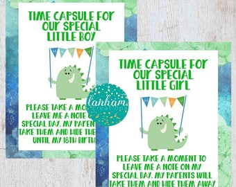 Time Capsule, First Birthday, Time Capsule Sign, Monster Birthday, Monster Party, Little Monster, Little Monster Party, Boy 1st Birthday