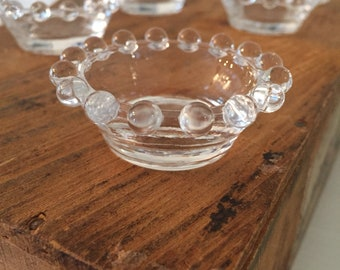 Vintage Imperial candlewick clear glass Salt dip