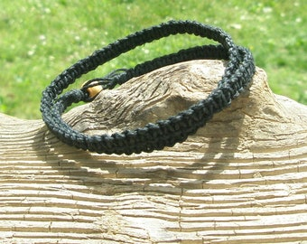 Hemp Bracelet Hemp Ankle Bracelet Hemp Anklet Hemp Necklace choker necklace hippie chic mens hemp necklace guys hemp rope Choose your color