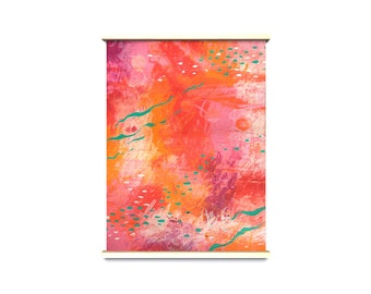 Pink heaven - abstract - originale - abstract paint