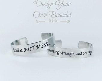 Personalized Cuff Bracelet, Silver Cuff, Cuff Bracelet, Bracelet, Metal Cuff Bracelet, Engraved Bracelet, Engraved Jewelry, Monogram