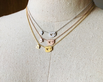 Coffee Mug Necklace, Tea Cup Necklace, 14k Gold plated/Rose Gold/Silver, Dainty Necklace