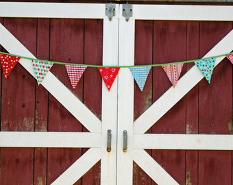 Winter holiday bunting - Christmas mod modern retro banner garland