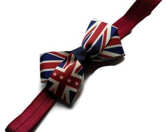 Union Jack Baby headband - British flag hairband - Union Jack toddler hair bow - Team GB hair bow - Childs headband with British flag bow