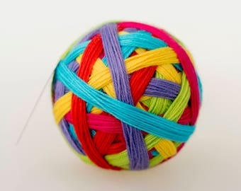 Are We There Yet? - vibrant hand dyed self striping sock yarn
