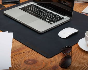 Gray Desk Pad Laptop Mat Desk Mat Office Decor Deskie