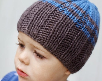 Boy's Beanie Hat Knitted in Pure Wool by Sheeps Clothing