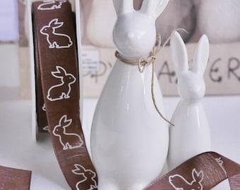 5 m Band * Bunny * chocolate brown