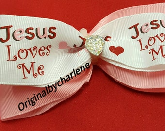 Boutique Jesus Loves Me Hairbow