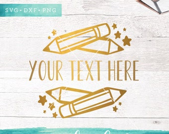 Pencil Fram SVG Cutting Files / Back to School Svg Cut Files / Teacher SVG Files / SVG for Cricut Silhouette / Pencil Svg