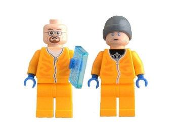 Breaking Bad LEGO Inspired Custom Minifigures Jesse And Walt