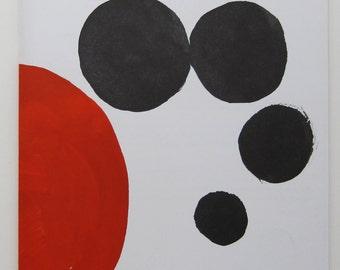 Alexander Calder - Exhibition Catalogue, Maeght Zurich - 1970, Lithograph Cover