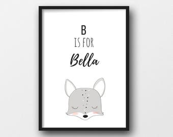A4 Personalised Children's / Nursery Print