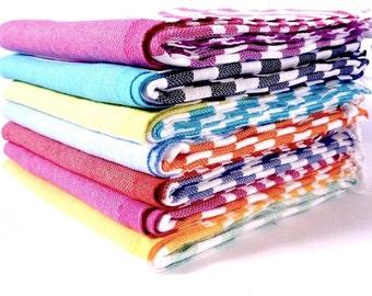 Set of 2 Traveller Towels - 100% Cotton, Turkish Towel, Beach Towel, Bath Towel and Travel Towel