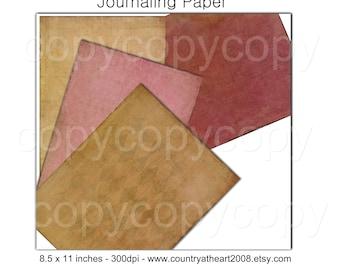 Journaling Paper Pack  - Scrapbook Papers -  Printable Digital Collage Sheet - Digital Download Scrapbooking Kit