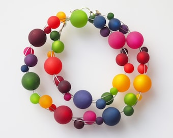 rainbow necklace colorful polaris necklace