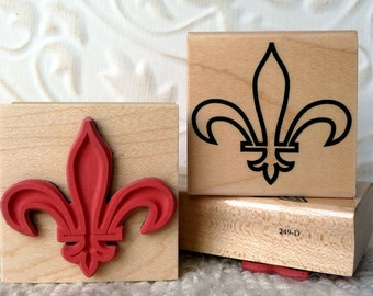 Fleur de lis Symbol rubber stamp from oldislandstamps