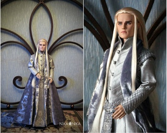 Thranduil cosplay, Tonner clothes, bjd clothes, doll clothes, The Hobbit: An Unexpected Journey. bjd dress, doll clothes, bjd doll clothing.