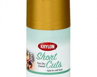 GOLD LEAF Metallic Leafing High Gloss aerosol Spray Paint Gilding golden metal Finish Krylon Short Cuts 3 ounce Can SCS-029 kscs029