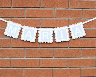 Custom Name Banner, Personalized Name Banner, Personalized Gift, Personalized Baby Gift, Baby Girl Nursery Decor, Kids Room Decor