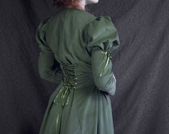 Winter day dress Green Velvet