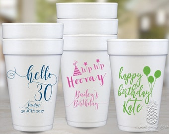 Birthday Party | Customizable Foam Cups | social graces and Co