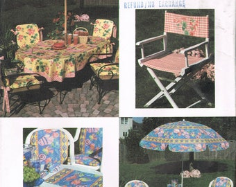 Outdoor Furniture Sewing Pattern - Patio Chair Pads - Umbrella Cover - Directors Chair Pattern - Craft Sewing Pattern - Simplicity 7159