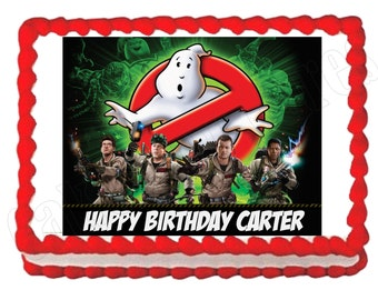 Ghostbusters party decoration edible cake image cake topper frosting sheet