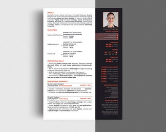 Creative & modern Resume / CV Template Illustrator file,Professional Resume /CV design ( We made edits you wants for FREE ) Instant Download