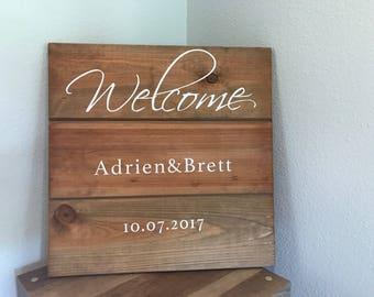 Welcome Pallet Sign for Wedding