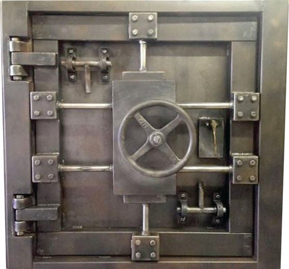 & Custom Vintage-Look Industrial Vault Door 027S