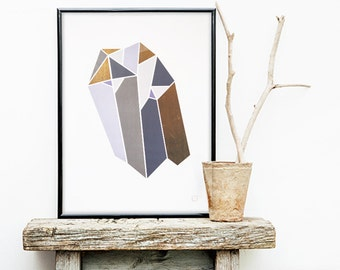 Diamond 1 poster - Customizable - gilding - color-decoration - living room - bedroom