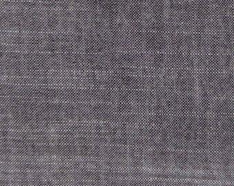 Yarn Dyed Chambray Black Organic Cotton